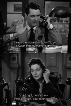 Cary Grant & Rosalind Russell | His Girl Friday