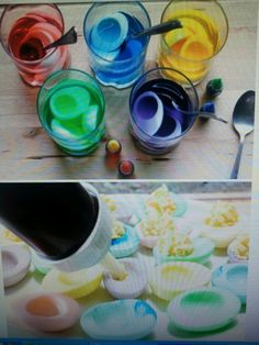 Different take on coloured eggs