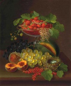 George E. Forster (1817-1896) —  Still Life with Fruit (1322x1598)