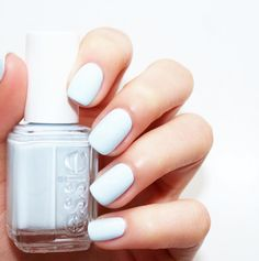 Nothing more refreshing than this icy blue mani with essie's 'find me an oasis'