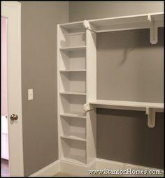 Master Suite Closet Design   Master Closet Design   Builtin Shoe Rack