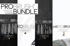109 Brushes BUNDLE | ProBrush™ by Leonard Posavec on Creative Market