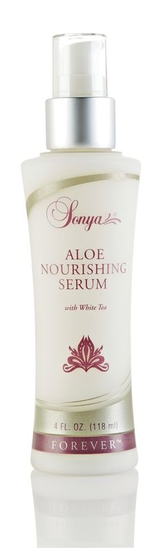 Aloe Nourishing Serum with aloe, white tea and mimosa bark extract. This lightweight serum preserves and replenishes your skin's moisture to help maintain a youthful complexion. Especially lovely during these cold winter months. This works beautifully  with Aloe Moisturizing Lotion as a base. A gorgeous treat for skin. http://soothingaloe.myforever.biz/store/