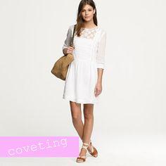 j.crew white lace dress