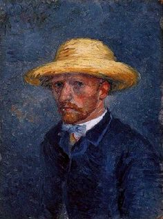 Vincent Van Gogh.  Portrait of Theo van Gogh.  April 1887.  Theo died six months after Vincent; they are buried side-by-side.
