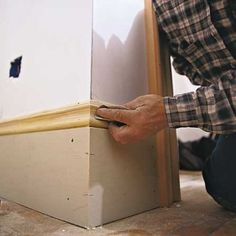 Cheap idea to update our baseboards throughout the house.