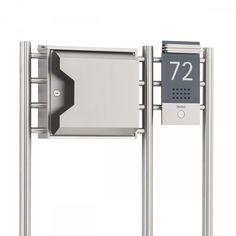 hochwertiger v2a edelstahl standbriefkasten mit zeitungsfach 144 cm hoch 8kg briefkasten. Black Bedroom Furniture Sets. Home Design Ideas