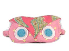Sleep Mask Owl Eye Mask Pink Cotton Ready to by BlackCatStitches, $12.00