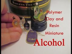 Polymer Clay and Resin Dollhouse Miniature Alcohol/Liquor/ Spirits - YouTube