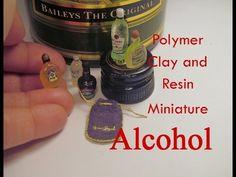 Polymer Clay and Resin Dollhouse Miniature Alcohol/Liquor/ Spirits - YouTube