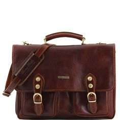 Modena - Leather briefcase 2 compartments - Large size - TL100310 – Rehana.co