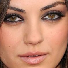 Mila kunis makeup, maybe less around the eyes