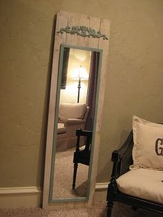 Great idea for those $5 Walmart mirrors