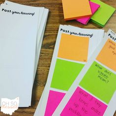 O-H So Blessed!: Last Minute Lessons: Post Your Thoughts... blog post with a FREEBIE post-it template lesson for any subject/content area & reading