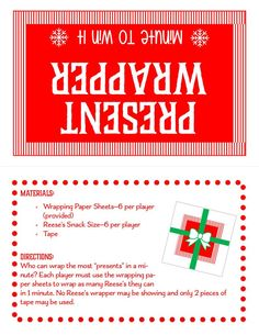 Minute To Win It Games Christmas, Fun Christmas Party Games, Christmas Games For Family, Holiday Games, Minute To Win It Games For Adults, Christmas Fun, Christmas Activities For Adults, Office Party Games, New Years Eve Day