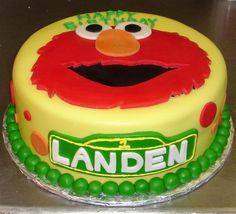 Sesame Street Elmo custom yellow fondant kid's birthday cake with red and orange polka dots and green pearl boarder Elmo Birthday Cake, Birthday Sheet Cakes, 2nd Birthday Party Themes, Birthday Cake Pictures, Elmo Party, Birthday Ideas, Sesame Street Cake, Sesame Street Birthday, Elmo Smash Cake