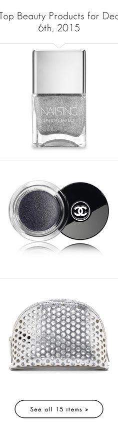 """""""Top Beauty Products for Dec 6th, 2015"""" by polyvore ❤ liked on Polyvore featuring beauty products, nail care, nail polish, nails, beauty, makeup, maquillaje, apparel & accessories, silver glitter nail polish and nails inc."""