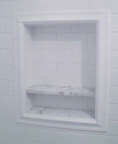 Shower Niche, subway tiles                                                                                                                                                     More