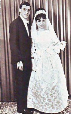 Vintage Bridal Couple