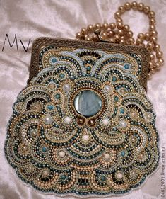 Periods & Styles Bags, Handbags & Cases Antique Art Nouveau Gold Tone Frame Handmade Tan Knit Amber Yellow Bead Purse Clients First