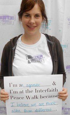 Meet Allison Schoeppner. She's a steering committee member who was trained at the Interfaith Leadership Institute in Atlanta. She has a strong passion for interfaith work and will be leading the campaign in the upcoming year.