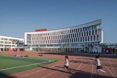 Education Architecture, School Architecture, School Floor Plan, School Building Design, Building Elevation, Residential Complex, Bpd, Three Dimensional, Facade