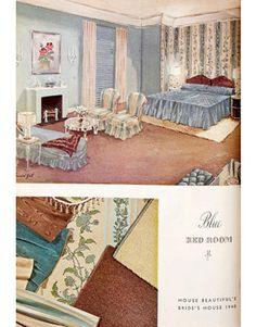 1940 bedroom in House Beautiful Magazine