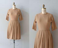 Buttered Scotch dress • vintage 1950s dress • wool 50s dress