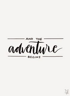 And the adventure begins. / Original Canvas / Lettering by The Happy Candle / @thehappycandle #lettering #typography #quote
