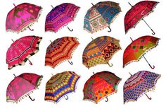 Burning Man Festival Clothing Umbrella Patchwork Fabric Parasol Wedding Shade…