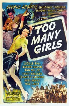 https://flic.kr/p/9fjfNe | Lucille Ball, Ann Miller, Frances Langford, Desi Arnaz Movie | 1940 movie poster