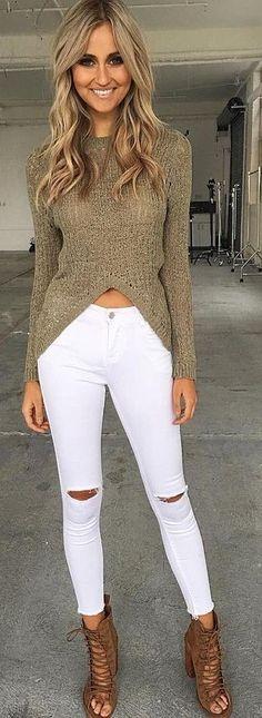 #summer #tigermist #outfits   khaki + White