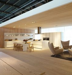 Truly inspiring, the bulthaup exhibition and training centre in Germany. We love the Dinesen flooring used.