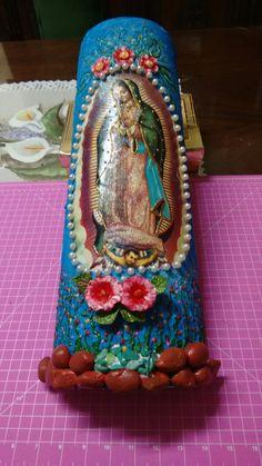 Nossa Senhora de Guadalupe decopagem e pintura feito por mim
