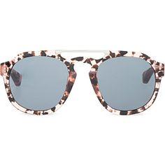 DRIES VAN NOTEN Salmon tortoiseshell acetate sunglasses. Óculos De Sol ... 085d849a74