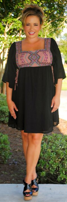 Perfectly Priscilla Boutique - Living On The Edge Dress, $49.00 (http://www.perfectlypriscilla.com/living-on-the-edge-dress/)
