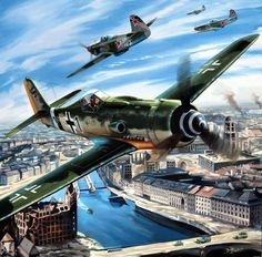 1945 Berlin, Das Ende - Benjamin Freudenthal Fw vs The Effective Pictures We Offer You About Aircraft art A quality picture can tell you many things. You can find the most beautiful picture Ww2 Aircraft, Fighter Aircraft, Military Aircraft, Luftwaffe, Air Fighter, Fighter Jets, Focke Wulf 190, War Thunder, Aircraft Painting