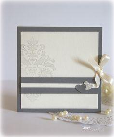 Faire part mariage gris beige et enveloppe : Faire-part par scrap-a-patte