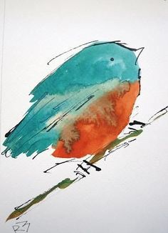 Amazing, quick brush work on this watercolor bird. Who is the artist? Amazing, quick brush work on this watercolor bird. Who is the artist? Watercolor Animals, Watercolor And Ink, Watercolour Painting, Painting & Drawing, Watercolors, Watercolor Trees, Watercolor Portraits, Watercolor Landscape, Art Aquarelle