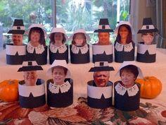 Thanksgiving Craft: Pilgrim Napkin Rings Comments | Thanksgiving Theme Napkin Rings | FamilyFun