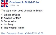 You Know You're British When...