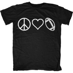 Peace, Love & Football T-Shirt