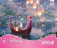 Thomas Kinkade - Disney Dreams Princess Tangled- Oversized ** Click on the image for additional details.