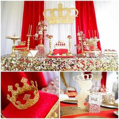 Baby shower ideas red and gold royalty baby shower theme, baby Royalty Baby Shower Theme, Boy Baby Shower Themes, Baby Shower Princess, Baby Shower Gender Reveal, Baby Shower Cakes, Baby Shower Parties, Baby Boy Shower, Baby Shower Centerpieces, Baby Shower Decorations