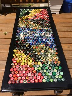 My most recent beer cap table- about 700 caps. Made a great wedding gift! Can't wait to do the next.
