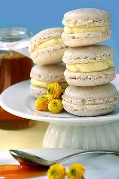 Dandelion Macaroons by Whisk Kid.  The post alone is worth a read.