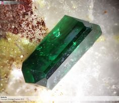 Antlerite Picture width 2.3 mm. Collection and photograph Christian Rewitzer PXRD confirmed Copyright Christian Rewitzer 2012