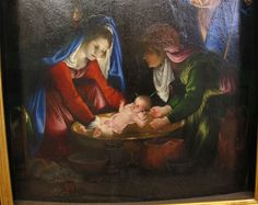 Лоренцо Лотто (1480-1556). Рождение Иисуса. 1527-1528 гг. Фрагмент.