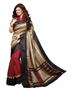 Printed Silk Saree at the best