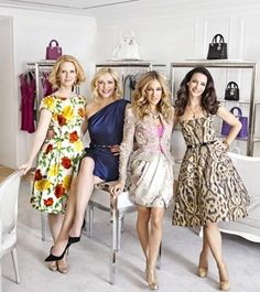 Miranda Hobbes , Samantha Jones , Carrie Bradshaw and 	Charlotte York